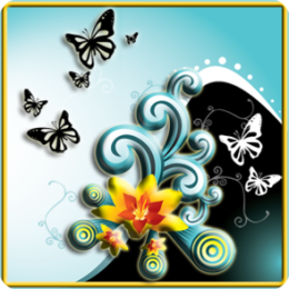 Butterfly Splash HD Live Wallpaper