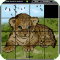 Magic Slide Puzzle - Wild Animals 1