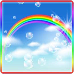 Rainbow Bubbles Live Wallpaper