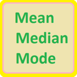 Mean, Median And Mode
