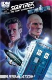 Book Cover Image. Title: Star Trek The Next Generation/Doctor Who:  Assimilation #1, Author: Scott Tipton
