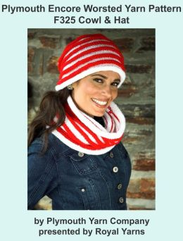 Plymouth Encore Worsted Yarn Knitting Pattern F325 Cowl & Hat