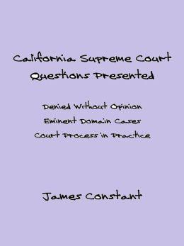 California Supreme Court Questions Presented