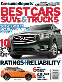 Consumer Reports' Best Cars, SUVs, and Trucks 2013