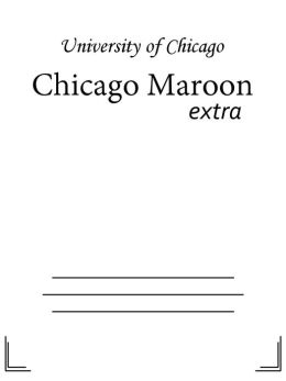 Chicago Maroon