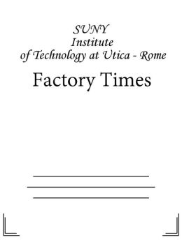 Factory Times