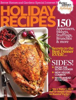 Holiday Recipes 2013
