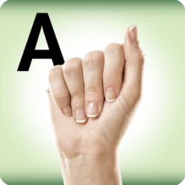 A To Z Sign Language Alphabet Flash Cards