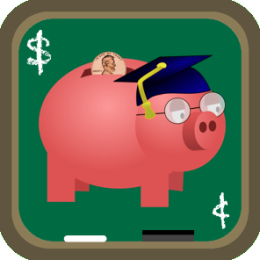 Professor Piggy Bank (Educational App for Kids - Learning & Counting Coins)