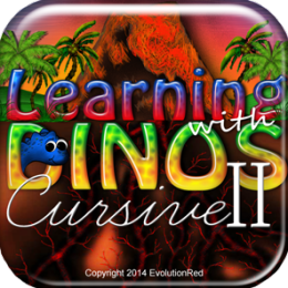 Advanced Cursive Writing II: Alphabet, Writing, & Penmanship for Adults & Kids Dinosaur Edition