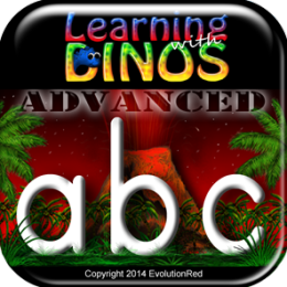 Advanced Writing - Letters & Words: Learning with Dinos (Kids/Adult Dinosaur Writing & Penmanship)