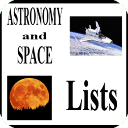 Science Lists (Astronomy and Space)