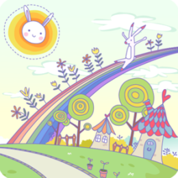 Bunny Town HD Live Wallpaper