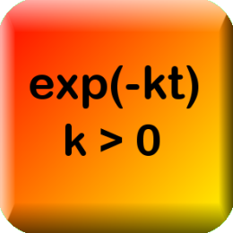 Exponential Decay Calculator (Nook HD+ Edition)