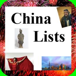 World Travel Lists (China)