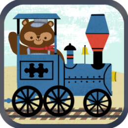 Train Games for Kids: Zoo Railroad Car Puzzles - A Cool and Fun Animated Puzzle Game for Preschool