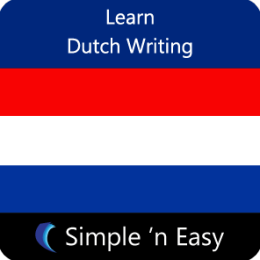Learn Dutch Writing by WAGmob