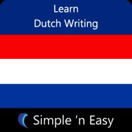 Learn Dutch Writing by WAGmob