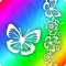 Rainbow Butterfly HD Live Wallpaper