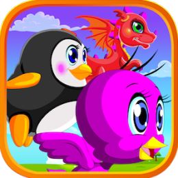 Flappy Fish Game (Feat. Tweety Bird, Flappy Dragon, and Penguin)