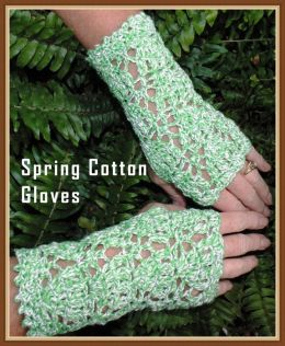 Spring Fingerless Glove Crochet Pattern