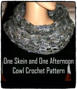 One Skein and One Afternoon Cowl Crochet Pattern