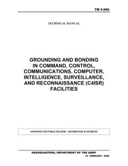GROUNDING AND BONDING IN COMMAND, CONTROL, COMMUNICATIONS, COMPUTER, INTELLIGENCE, SURVEILLANCE, AND RECONNAISSANCE (C4ISR) FACILITIES