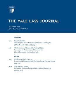 Yale Law Journal: Volume 123, Number 4 - January 2014