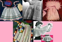 Delantales ganchillo – Crochet patrones de delantales