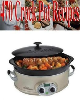 Best Healthy Recipes - 470 Crock Pot Recipes - The Ultimate Collection CookBook