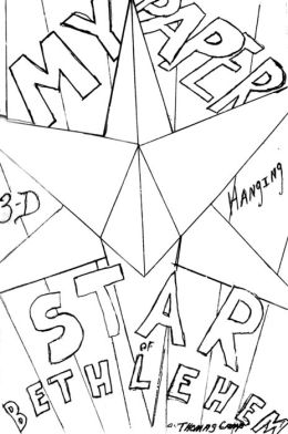 My Paper Star of Bethlehem