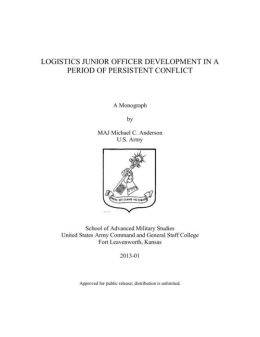 LOGISTICS JUNIOR OFFICER DEVELOPMENT IN A PERIOD OF PERSISTENT CONFLICT