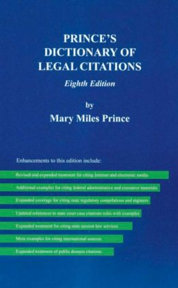 Prince's Dictionary of Legal Citations, 8th Edition