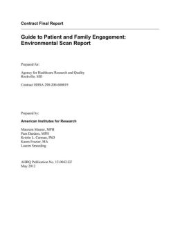 Guide to Patient and Family Engagement: Environmental Scan Report
