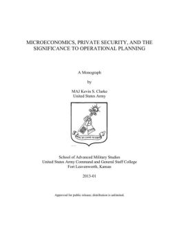 MICROECONOMICS, PRIVATE SECURITY, AND THE SIGNIFICANCE TO OPERATIONAL PLANNING