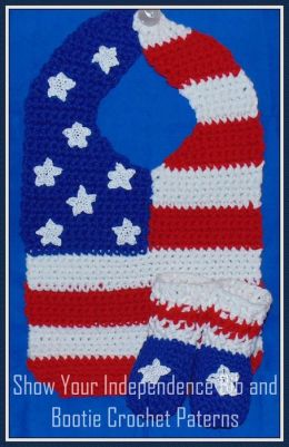 Show Your Independence Bib and Bootie Crochet Patterns