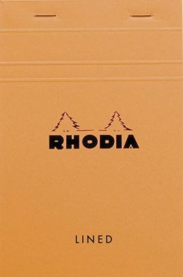 Rhodia Orange Classic Top Stapled Lined Notepad 4.38
