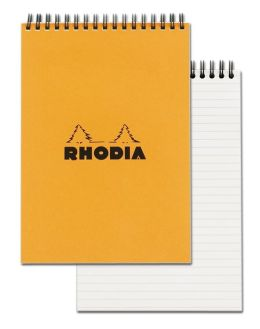 Rhodia Orange Top Wirebound Notepad 6