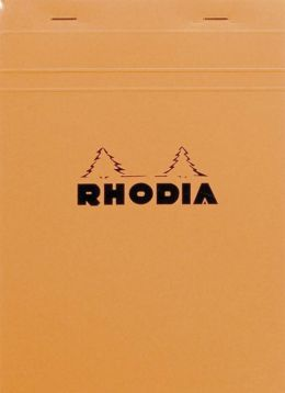Rhodia Orange Lined Notepad 6