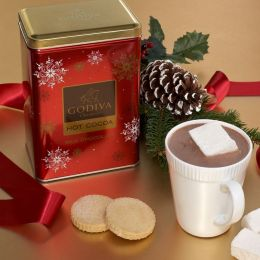 Godiva Milk Chocolate Cocoa Holiday Tin
