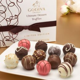 Godiva 12 Piece Ultimate Dessert Truffles Box