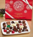 Product Image. Title: Godiva 36 Piece Holiday Assorted Chocolates Gift Box