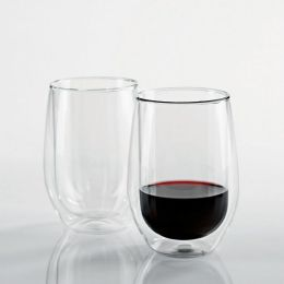 Steady-Temp Double Wall Cabernet Stemless Wine Glasses - Set of 2