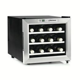 Stainless Steel Silent 12 Bottle Wine Refrigerator