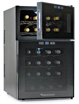 Silent 24 Bottle Dual Zone Touchscreen Wine Refrigerator