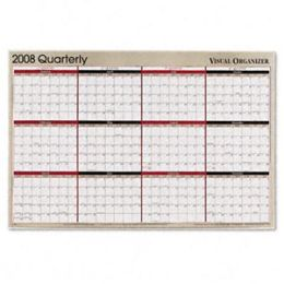 At-A-Glance A123 Reversible Write-On/Wipe-Off Quarterly Format Yearly Planner 24 x 36