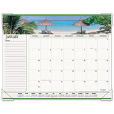 At-A-Glance AAG89803 Monthly Desk Calendar- Seascape Panoramic- 22in.x17in.