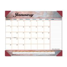 At-A-Glance AAG89702 12-Month Desk Calendar- Marble Look- 1PPM- 17in.x22in.- New Marble