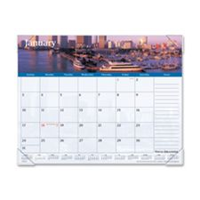 At-A-Glance AAGDMD14532 Monthly Desk Pad- 12-Months- Harbor Views- 22in.x17in.