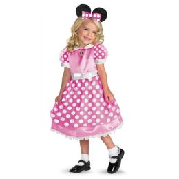 Clubhouse Minnie Mouse (Pink) Toddler/Child Costume: Size Toddler (3T-4T)